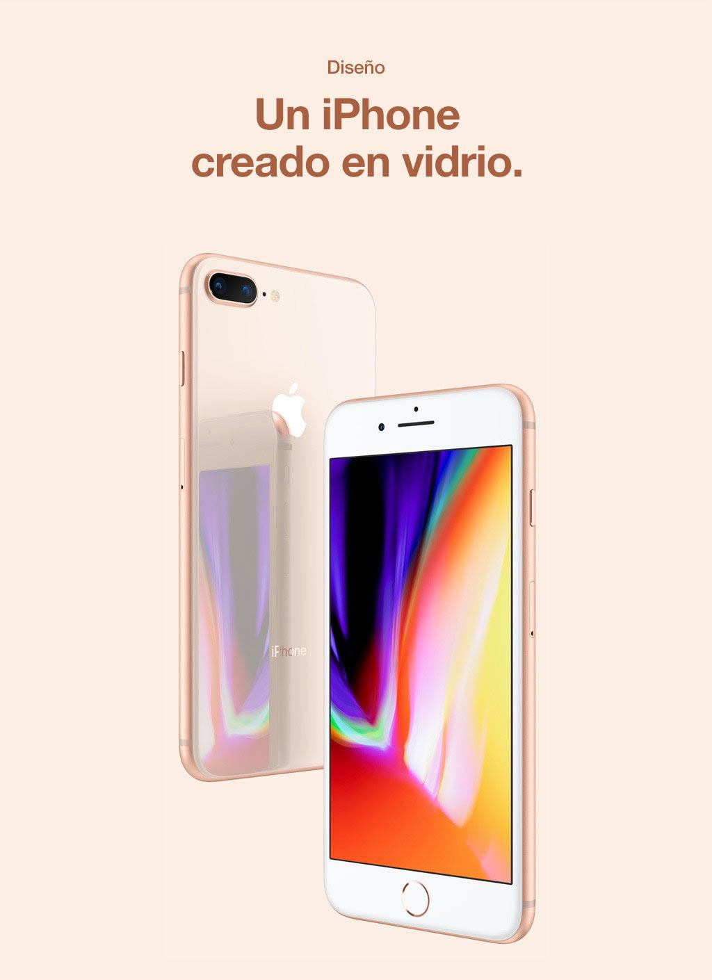 Diseño. Un iPhone diseñado con vidrio