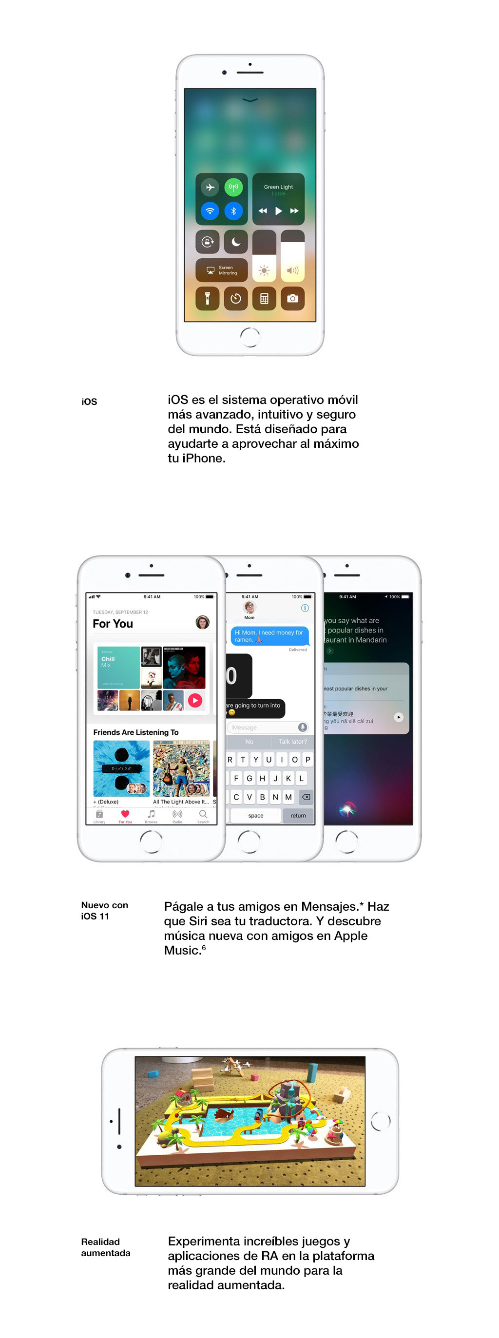 iOS es el sistema operativo móvil más avanzado, intuitivo y seguro del mundo.