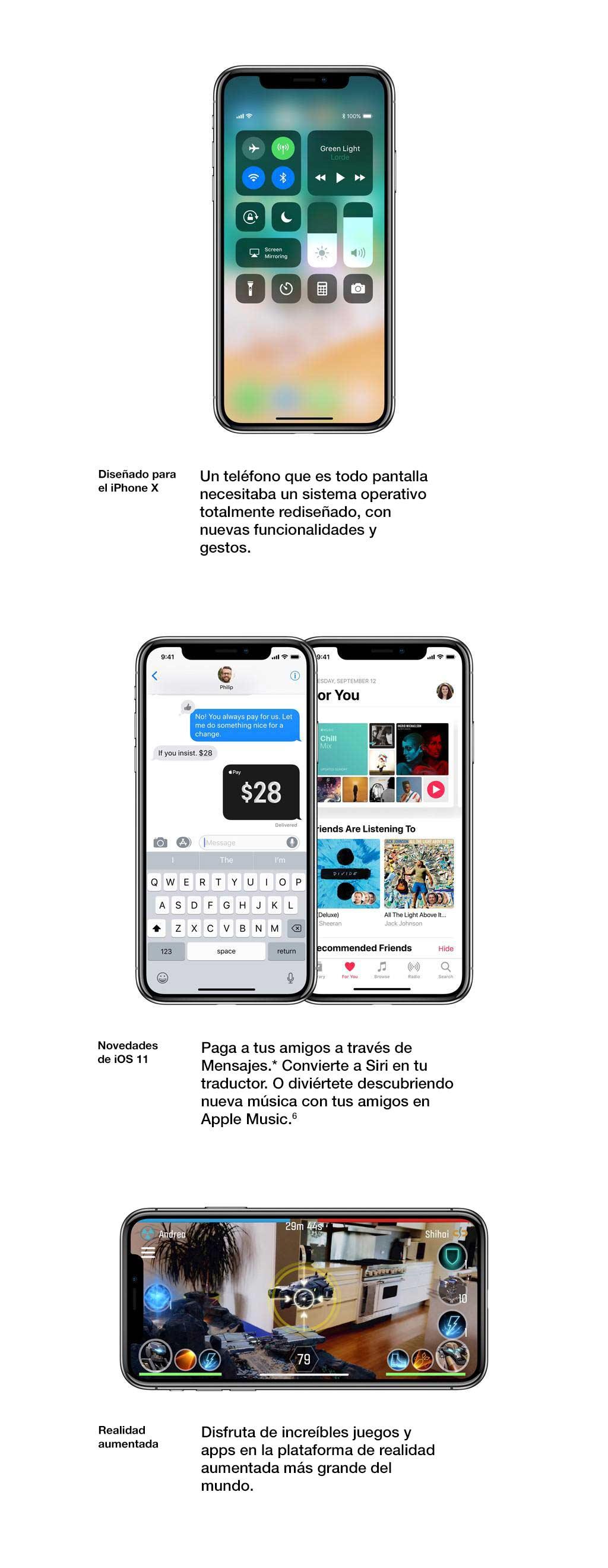 Un teléfono que es completamente pantalla necesitaba un SO reformulado con nuevas capacidades y gestos.