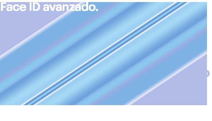 Advanced Face ID. La seguridad es sencilla cuando tu rostro es la contraseña. Puedes desbloquear tu iPhone,ingresar a aplicaciones, cuentas y más con un vistazo. Es la autenticación facial más segura en un smartphone. Y ahora es aún más rápido.
