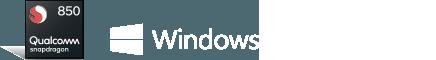 Logotipo de Qualcomm y Windows