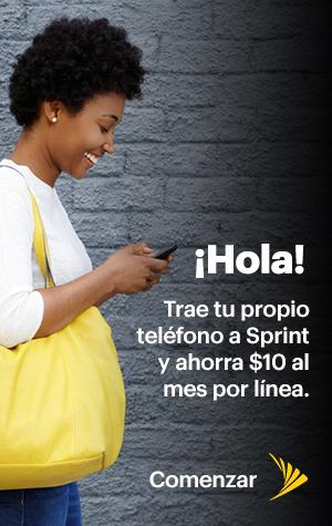 ¡Hola! Trae tu propio teléfono a Sprint y ahorra $10/mes/línea.