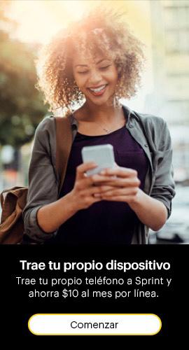Trae tu propio dispositivo. Trae tu propio teléfono a Sprint y ahorra diez dólares al mes por línea. Comienza.