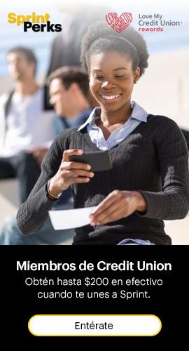 Love my credit union rewards. Miembros deCredit union: Puedes obtener hasta$200 en efectivo cuando te unes a Sprint. Entérate.